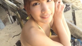 Ikumi Hisamatsu Yellow SwimsuitBikiniSheetTropical Beach076