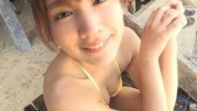 Ikumi Hisamatsu Yellow SwimsuitBikiniSheetTropical Beach077