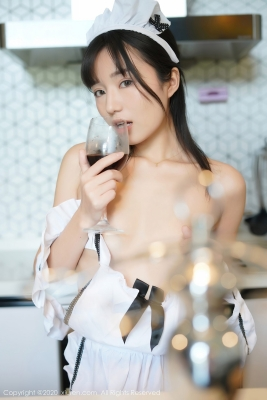 Yuka Kurai Cosplay Swimsuit-Style CostumeMaking Meals for Exposed Maids020