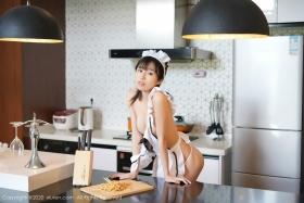 Yuka Kurai Cosplay Swimsuit-Style CostumeMaking Meals for Exposed Maids035