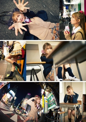 Mea Shimotsuki Swimsuit Gravure Close to School LifeOn the rooftop after school she 2021002