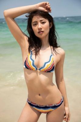 Kazusa Okuyama swimsuit gravure 011
