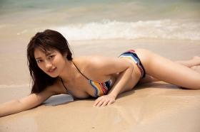 Kazusa Okuyama swimsuit gravure 014