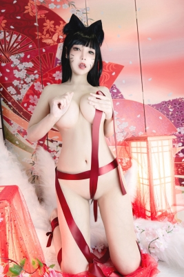 Cosplay Swimsuit Style Costumes Nine Tailed Fox Ahri League of Legends LOL Online Game014