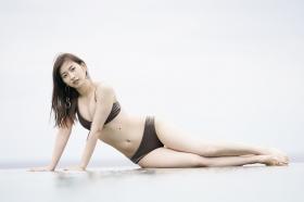 Akari Uemura Swimsuit Gravure Hello Project Brown swimsuit Brown bikini Beach007