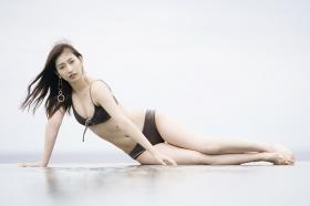 Akari Uemura Swimsuit Gravure Hello Project Brown swimsuit Brown bikini Beach008