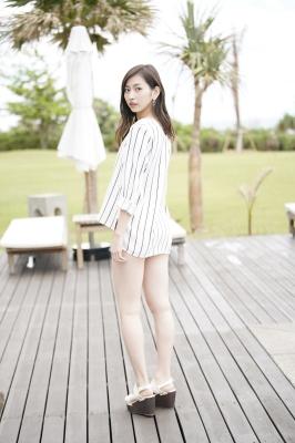 Akari Uemura Swimsuit Gravure Hello Project Brown swimsuit Brown bikini Beach021