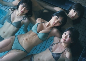 Luna Toyoda Rizakura Yoshida Nami Yamada Yui Tadenuma The four of us on the gravure stageStars that have never crossed each other line up in a row and burst into life016