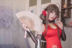 Cosplay Swimsuit Style Costume Azur Lane Azur Lane Kaohsiung China Dress Red White014