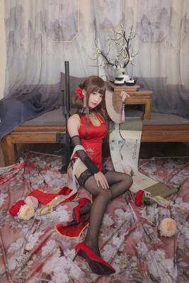 Cosplay Swimsuit Style Costume Azur Lane Azur Lane Kaohsiung China Dress Red White015