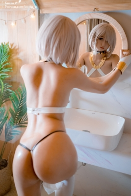 Cosplay Swimsuit Style Costume Marsh Kyrie Lite Dancer Version FGO FateGrand Order022