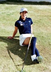 Minase Ozawa swimsuit gravure Beautiful woman golfer sexy swing 2021003