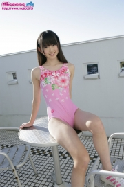 Hikaru Takahashi Pink Swimming Race Swimsuit School Swimsuit001