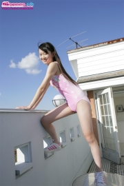 Hikaru Takahashi Pink Swimming Race Swimsuit School Swimsuit009
