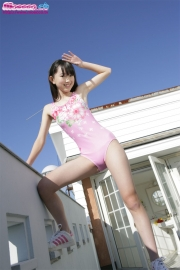 Hikaru Takahashi Pink Swimming Race Swimsuit School Swimsuit010