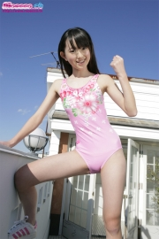 Hikaru Takahashi Pink Swimming Race Swimsuit School Swimsuit012