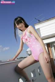 Hikaru Takahashi Pink Swimming Race Swimsuit School Swimsuit015