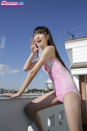 Hikaru Takahashi Pink Swimming Race Swimsuit School Swimsuit016
