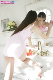 Hikaru Takahashi Pink Swimming Race Swimsuit School Swimsuit030