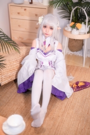 Cosplay Swimsuit Style Costume Emilia Re Zero to Start Another World002