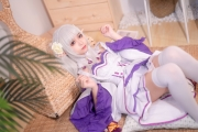 Cosplay Swimsuit Style Costume Emilia Re Zero to Start Another World006