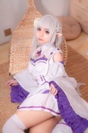Cosplay Swimsuit Style Costume Emilia Re Zero to Start Another World013