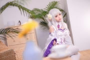 Cosplay Swimsuit Style Costume Emilia Re Zero to Start Another World020