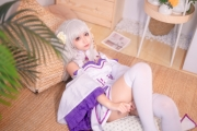 Cosplay Swimsuit Style Costume Emilia Re Zero to Start Another World019