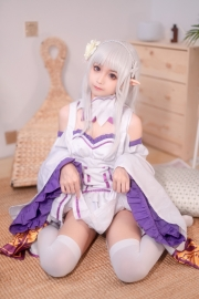 Cosplay Swimsuit Style Costume Emilia Re Zero to Start Another World027