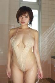 Wachiji Tsukasa swimsuit gravure swaying H cup sobig its bigger than your face006