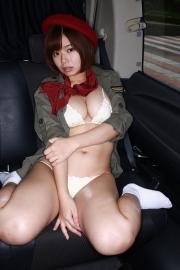 Wachiji Tsukasa swimsuit gravure swaying H cup sobig its bigger than your face014