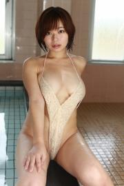 Wachiji Tsukasa swimsuit gravure swaying H cup sobig its bigger than your face022