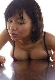 Wachiji Tsukasa swimsuit gravure swaying H cup sobig its bigger than your face029