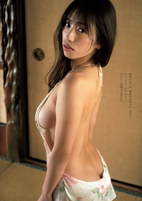 Mizuki Takanashi Swimsuit Gravure Naked ApronCurrent college student who is talked about in nakedart 2021005
