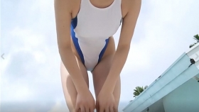 Reimi Osawa White Swimming Costume7015