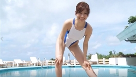 Reimi Osawa White Swimming Costume7023