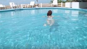 Reimi Osawa White Swimming Costume7037
