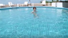 Reimi Osawa White Swimming Costume7038