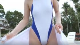Reimi Osawa White Swimming Costume7128