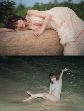 Rin Miyauchi Swimsuit Gravure Kimi to Boku to no Momogensou 2021003