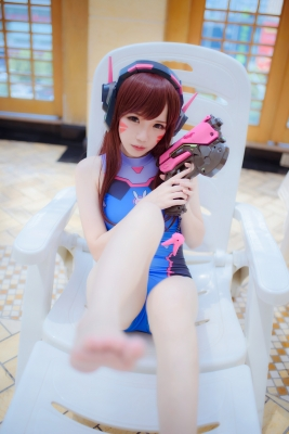 Cosplay Swimsuit Style Costume Overwatch DVaYuki Astra002