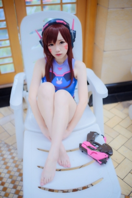 Cosplay Swimsuit Style Costume Overwatch DVaYuki Astra008