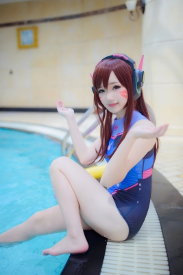 Cosplay Swimsuit Style Costume Overwatch DVaYuki Astra010
