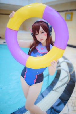 Cosplay Swimsuit Style Costume Overwatch DVaYuki Astra012