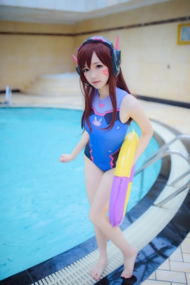 Cosplay Swimsuit Style Costume Overwatch DVaYuki Astra014