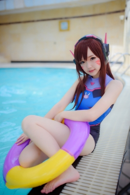 Cosplay Swimsuit Style Costume Overwatch DVaYuki Astra016