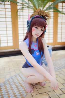 Cosplay Swimsuit Style Costume Overwatch DVaYuki Astra015
