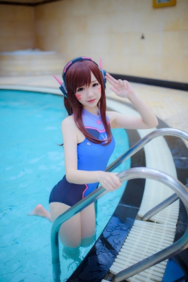 Cosplay Swimsuit Style Costume Overwatch DVaYuki Astra023