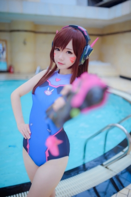 Cosplay Swimsuit Style Costume Overwatch DVaYuki Astra026