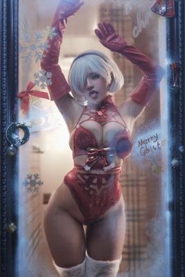 Cosplay Underwear Image 2B Christmas Nia Automata002